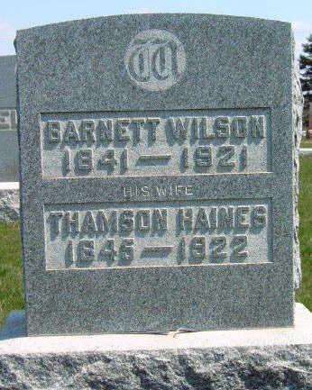 WILSON, BARNETT - Madison County, Iowa | BARNETT WILSON