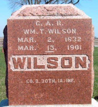 WILSON, WILLIAM THOMAS - Madison County, Iowa | WILLIAM THOMAS WILSON