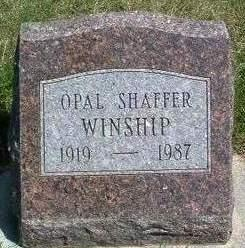 SHAFFER WINSHIP, OPAL E. - Madison County, Iowa | OPAL E. SHAFFER WINSHIP