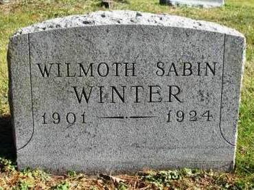 WINTER, WILMOTH SABIN - Madison County, Iowa | WILMOTH SABIN WINTER