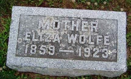 WOLFE, ELIZA VIRGINIA - Madison County, Iowa | ELIZA VIRGINIA WOLFE