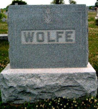 WOLFE, FAMILY STONE - Madison County, Iowa | FAMILY STONE WOLFE