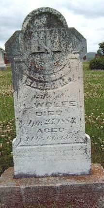 WOLFE, SARAH M. - Madison County, Iowa | SARAH M. WOLFE