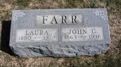 WOODS FARR, LAURA MAUD - Madison County, Iowa | LAURA MAUD WOODS FARR