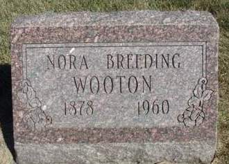 BREEDING WOOTEN, NORA (LENORA J.) - Madison County, Iowa | NORA (LENORA J.) BREEDING WOOTEN