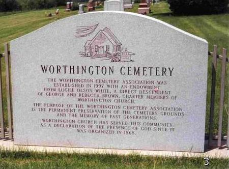 WORTHINGTON, CEMETERY - Madison County, Iowa | CEMETERY WORTHINGTON