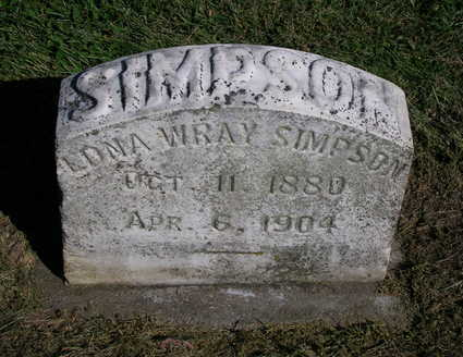 WRAY SIMPSON, EDNA MARY - Madison County, Iowa | EDNA MARY WRAY SIMPSON