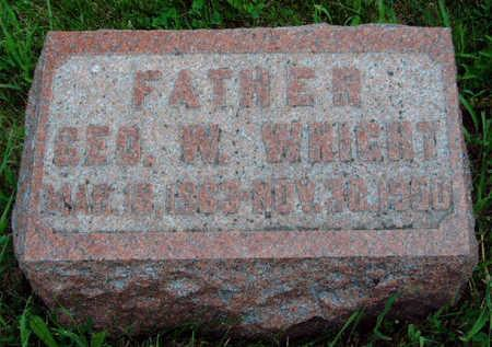 WRIGHT, GEORGE WASHINGTON - Madison County, Iowa   GEORGE WASHINGTON WRIGHT