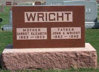 BARNETT WRIGHT, HARRIET ELIZABETH - Madison County, Iowa | HARRIET ELIZABETH BARNETT WRIGHT
