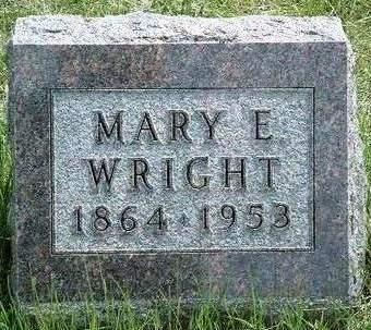 WRIGHT, MARY E. - Madison County, Iowa | MARY E. WRIGHT
