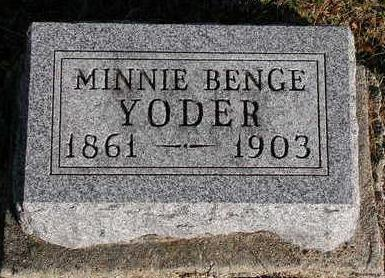 BENGE YODER, MINNIE ADELINE - Madison County, Iowa | MINNIE ADELINE BENGE YODER