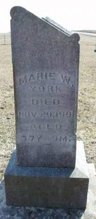 YORK, MARIE / MARIA - Madison County, Iowa | MARIE / MARIA YORK