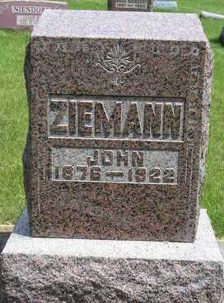 ZIEMANN, JOHN GEORGE - Madison County, Iowa | JOHN GEORGE ZIEMANN