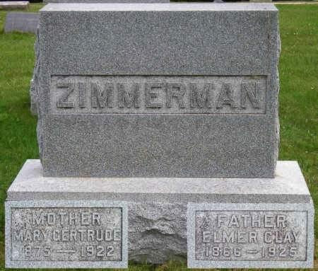 ZIMMERMAN, MARY GERTRUDE - Madison County, Iowa | MARY GERTRUDE ZIMMERMAN