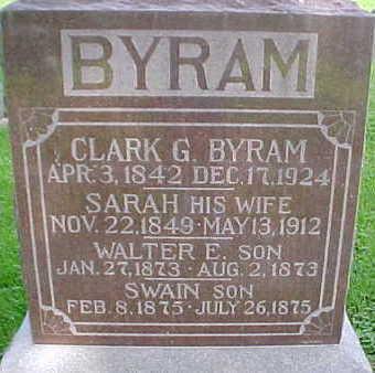 BYRAM, WALTER E. - Mahaska County, Iowa | WALTER E. BYRAM