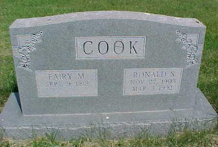 COOK, RONALD S. - Mahaska County, Iowa   RONALD S. COOK