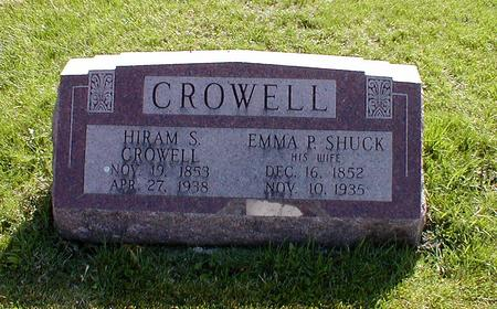 CROWELL, HIRAM - Mahaska County, Iowa | HIRAM CROWELL