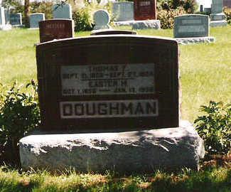 DOUGHMAN, EASTER M - Mahaska County, Iowa | EASTER M DOUGHMAN