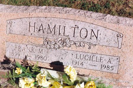 HAMILTON, FRANK M. - Mahaska County, Iowa | FRANK M. HAMILTON