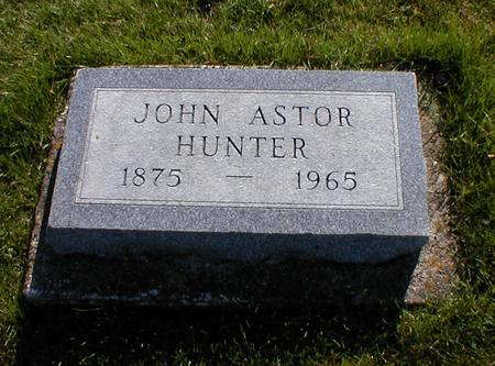 HUNTER, JOHN ASTOR - Mahaska County, Iowa | JOHN ASTOR HUNTER