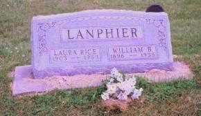 RICE LANPHIER, LAURA - Mahaska County, Iowa | LAURA RICE LANPHIER