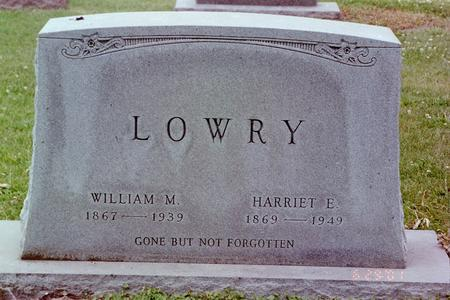LOWRY, HARRIET - Mahaska County, Iowa | HARRIET LOWRY
