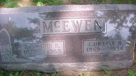 MCEWEN, BLANCHE E. - Mahaska County, Iowa | BLANCHE E. MCEWEN