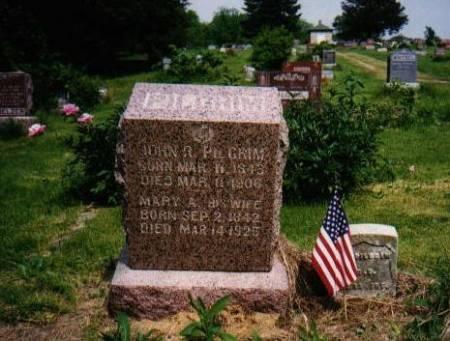 PILGRIM, JOHN R & MARY ANN PLUM - Mahaska County, Iowa | JOHN R & MARY ANN PLUM PILGRIM