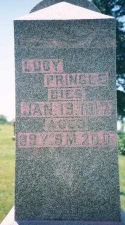 PRINGLE, LUCY - Mahaska County, Iowa   LUCY PRINGLE