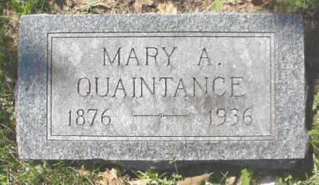 QUAINTANCE, MARY - Mahaska County, Iowa | MARY QUAINTANCE