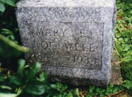 ROCKWELL, MARY E HIATT - Mahaska County, Iowa | MARY E HIATT ROCKWELL