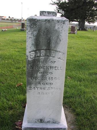 ROCKWELL, SARAH A. - Mahaska County, Iowa | SARAH A. ROCKWELL