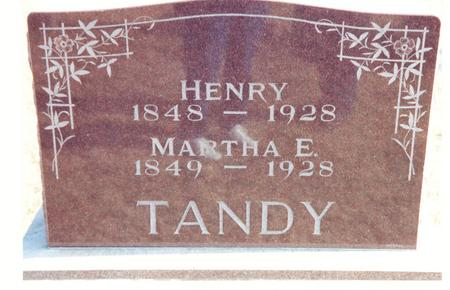 BASTON TANDY, MARTHA E. - Mahaska County, Iowa | MARTHA E. BASTON TANDY