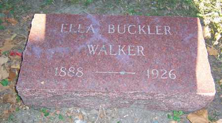 BUCKLER WALKER, ELLA - Mahaska County, Iowa | ELLA BUCKLER WALKER