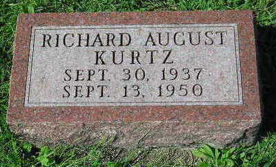 KURTZ, RICHARD AUGUST - Marion County, Iowa | RICHARD AUGUST KURTZ