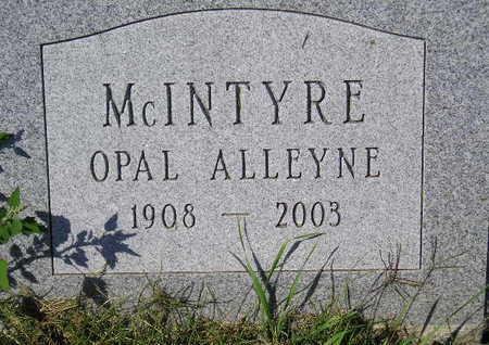 MCINTYRE, OPAL ALLEYNE - Marion County, Iowa | OPAL ALLEYNE MCINTYRE