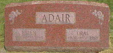 ADAIR, ORAL - Marion County, Iowa | ORAL ADAIR