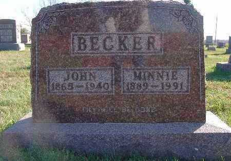 BECKER, JOHN - Marion County, Iowa | JOHN BECKER