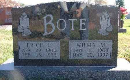 BOTE, WILMA M. - Marion County, Iowa | WILMA M. BOTE