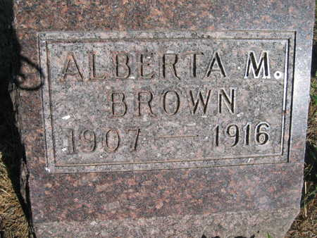 BROWN, ALBERTA M - Marion County, Iowa | ALBERTA M BROWN
