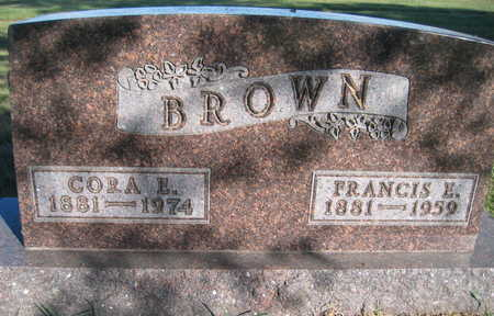 BROWN, FRANCIS E - Marion County, Iowa | FRANCIS E BROWN