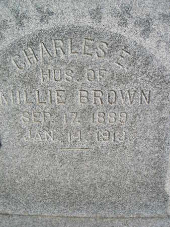 BROWN, CHARLES E - Marion County, Iowa | CHARLES E BROWN