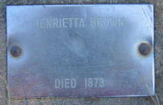 BROWN, HENRIETTA - Marion County, Iowa | HENRIETTA BROWN
