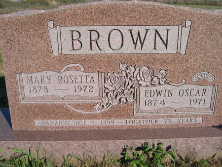 BROWN, MARY ROSETTA - Marion County, Iowa | MARY ROSETTA BROWN