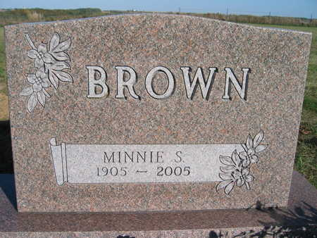 BROWN, MINNIE S - Marion County, Iowa | MINNIE S BROWN