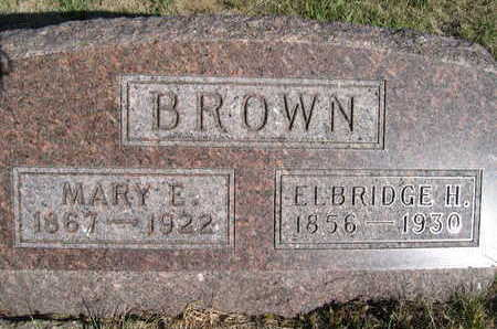 BROWN, ELBRIDGE H - Marion County, Iowa | ELBRIDGE H BROWN