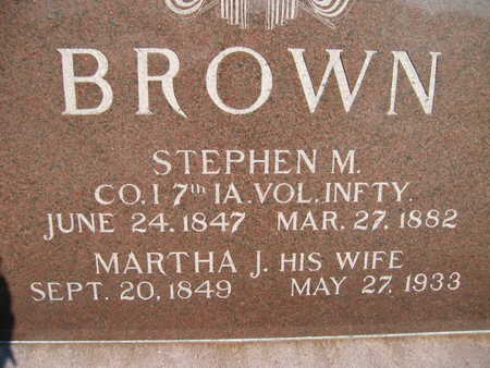 BROWN, STEPHEN M - Marion County, Iowa | STEPHEN M BROWN