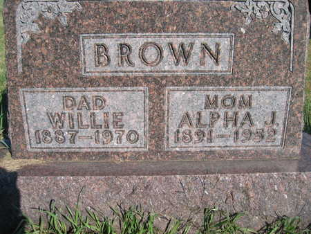 BROWN, WILLIE - Marion County, Iowa | WILLIE BROWN