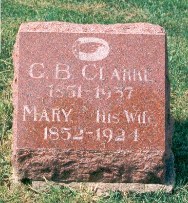 GRAVATT CLARKE, MARY - Marion County, Iowa | MARY GRAVATT CLARKE