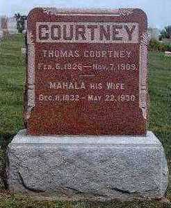 BURNETT COURTNEY, MAHALA - Marion County, Iowa | MAHALA BURNETT COURTNEY